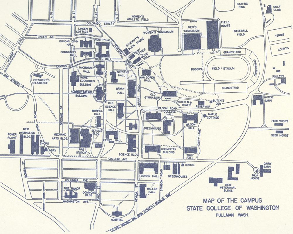 Wsu Pullman Campus Map French Admin Building My Home And Yours